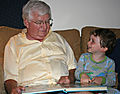 Reading with Grandpere