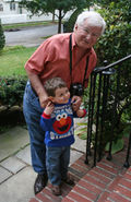 Sebastian with his Grandpere