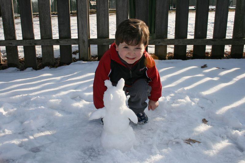 A mini snowman