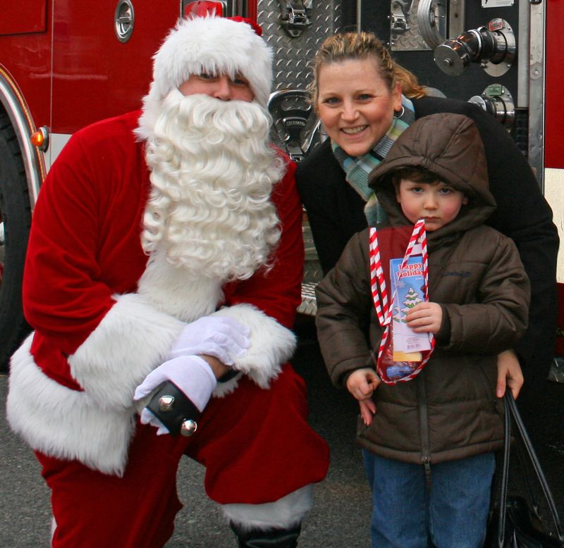 Mom and Seb with Santa close-up 2